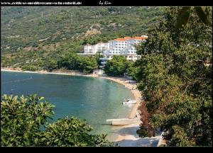 der nördliche Strand in Gradac