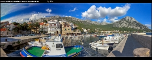 am idyllischen Hafen