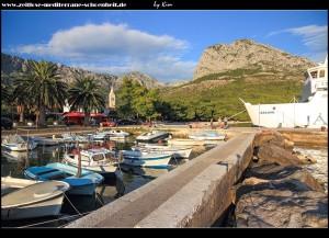 Impressionen aus der Gegend des Klosters und des Hafens mit Partisanendenkmal und schönen Parks