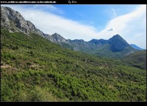 Blick zum Berg Viter (rechts im Bild)