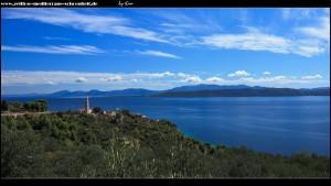 Von Norden kommend - erster Blick auf Igrane und die Halbinsel Pelješac
