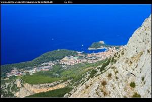 Am Aussichtspunkt Ravna Vlaška - Blick auf Makarska