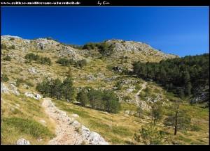 Wanderung hoch zum Vošac