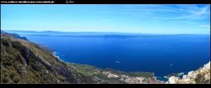Auf dem Vošac mit sensationellen Ausblicken auf Küste, Gebirge und Inseln