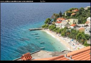 Blick auf Bratuš und seinen schönen Strand