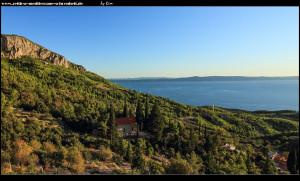 Ausblick auf die Adria und die Crkva Sv. Ante