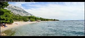 Strände im Norden Makarskas bis nach Krvavica
