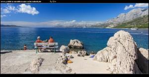 Westen der Halbinsel mit Blick auf den Norden Makarskas, das Biokovo bis nach Split