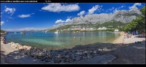 an den Stränden Makarskas