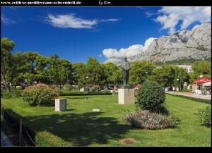 Park mit Tuđman-Statue