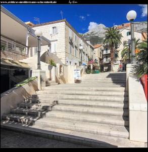 Zugang zum Trg Hrpina von der Riva aus