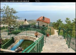 Veliko Brdo - im Restaurant Panorama mit tollem Ausblick