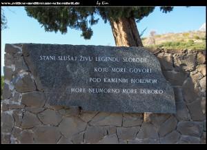 Gedicht am Monument Galebova Krila