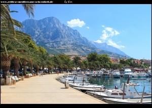 Palmenpromenade am Hafen